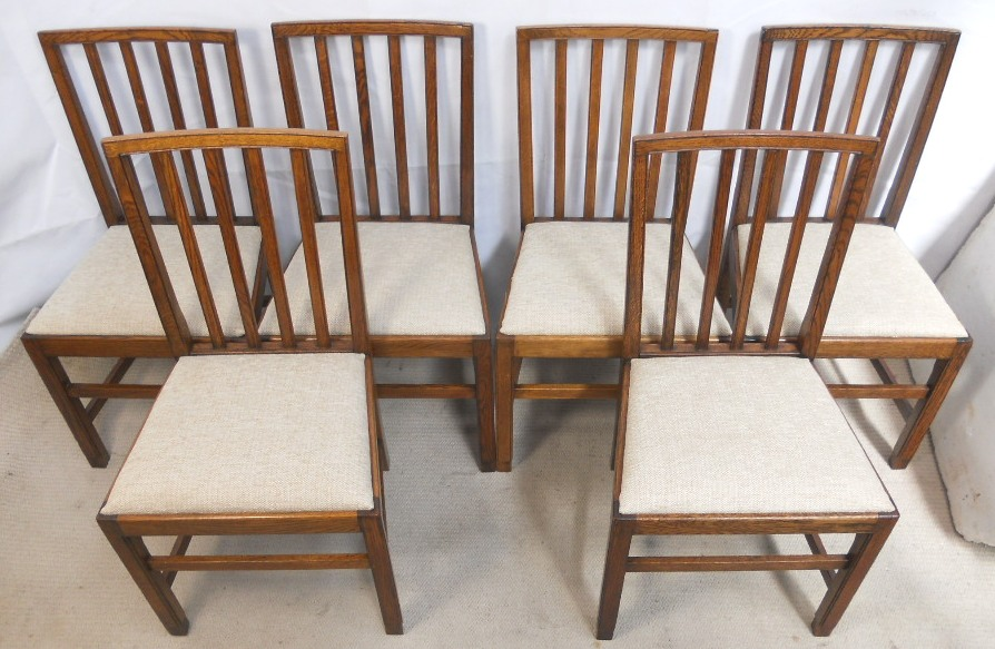 Set of Six Oak Dining Chairs in Antique Georgian Style - SOLD - Of Six Oak Dining Chairs In Antique Georgian Style - SOLD